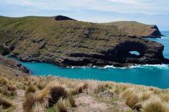 银行半岛在坎特伯雷,新西兰 库存图片