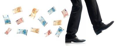 银行商业从事人附注步骤 免版税库存图片