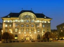 银行国民瑞士 免版税库存图片