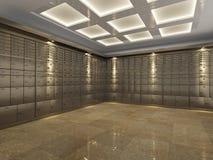 银行地下室的内部 库存照片