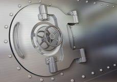 银行地下室门 免版税库存照片