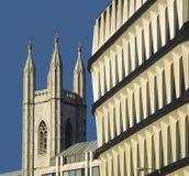 银行城市伦敦 免版税库存图片