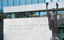 银行城市联邦堪萨斯预留 图库摄影