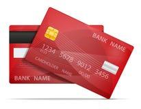 银行塑料卡片材料的传染媒介例证 库存例证