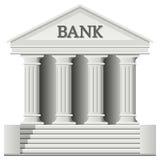 银行大楼图标 免版税图库摄影