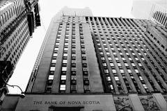 银行大楼新斯科舍 免版税库存照片