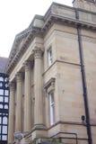 银行大楼有历史的彻斯特 库存照片