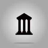 银行大楼标志象,传染媒介例证 平的设计样式 免版税库存照片
