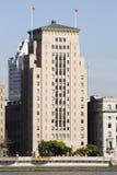 银行大楼老障壁瓷 库存照片