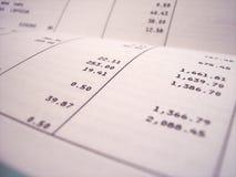 银行对帐单 免版税库存照片