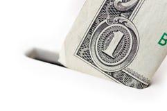 银行帐单去特写镜头的美元贪心 免版税库存照片