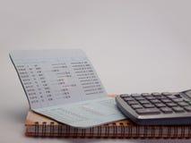 银行帐户存款簿 库存图片