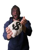 银行抢劫犯 库存照片
