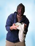 银行抢劫犯 免版税库存照片