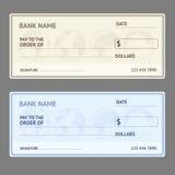 银行支票模板集合 向量 向量例证