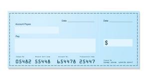 银行支票老牌 库存例证