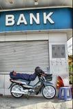 银行收割siem 库存照片