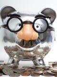 银行更改假装的贪心 免版税库存照片