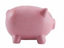 银行查出的贪心粉红色 免版税图库摄影