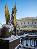 银行桥梁,圣彼德堡 免版税库存图片