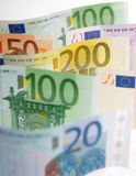 银行欧元附注 库存图片