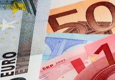 银行欧元附注 免版税图库摄影