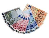 银行欧元附注 库存照片