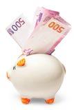 银行欧洲贪心被充塞的白色 免版税图库摄影