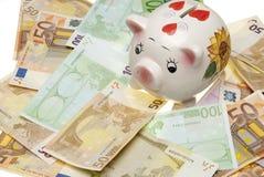 银行欧洲贪心 库存图片