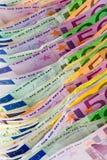 银行欧洲货币附注 库存图片
