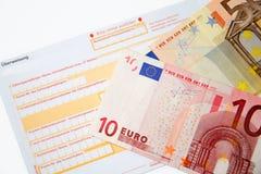 银行汇款 库存图片