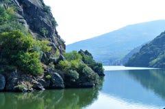 银行河和风景-杜罗河河 图库摄影