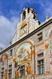 银行热那亚乔治・ giorgio palazzo圣徒圣 库存图片