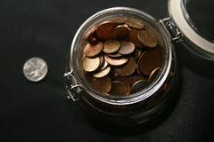 银行瓶 免版税图库摄影
