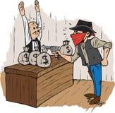 银行盗案 免版税库存照片