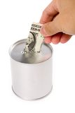 银行硬币 免版税库存照片