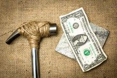 银行票据贪心放置的节省额 免版税库存照片