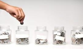 银行票据贪心放置的节省额 免版税图库摄影