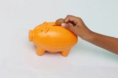 银行票据贪心放置的节省额 免版税库存图片
