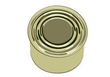 银行罐头食品 皇族释放例证