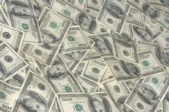 银行美元一百n堆 免版税库存照片