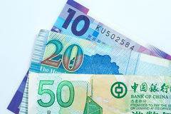 银行美元香港附注 免版税库存照片