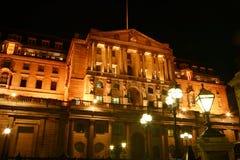 银行英国晚上 免版税库存照片