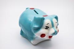 银行蓝色贪心 免版税库存图片