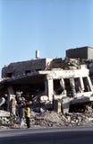 银行被轰炸的编译的西部 库存照片