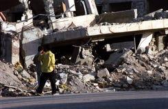银行被轰炸的编译的西部 图库摄影