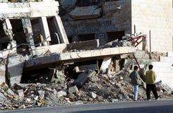 银行被轰炸的编译的西部 免版税库存照片