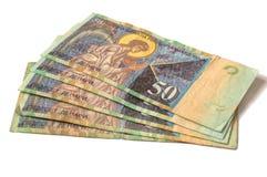银行货币前面马其顿人附注 免版税库存照片
