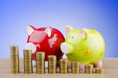 银行贪心企业的概念 免版税库存照片
