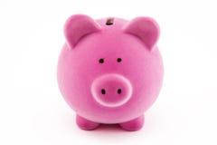 银行贪心粉红色 图库摄影